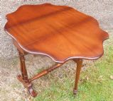 Shaped Top Mahogany Dropleaf Coffee Table